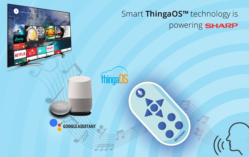 Tantiv4 Inc's Smart ThingaOS™ technology is powering Sharp's BDR 2B-C10BT1 series