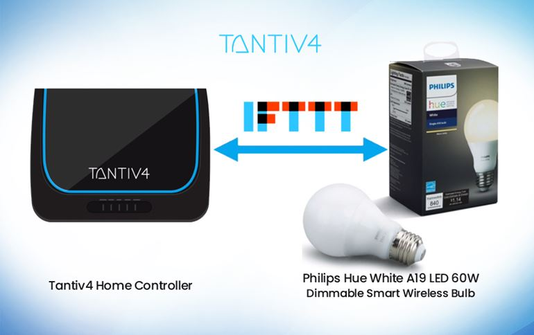 Tantiv4 works with IFTTT to integrate its Connected Home Controller for a more compatible Smart Home