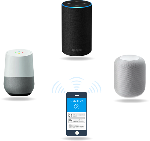 ThingaOS - Compatible with Siri, Alexa and Google Voice Services