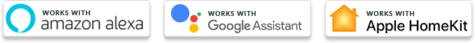 work with amazon alexa, google assistant, Apple homekit